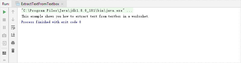 Extract Text from Textbox in Excel in Java