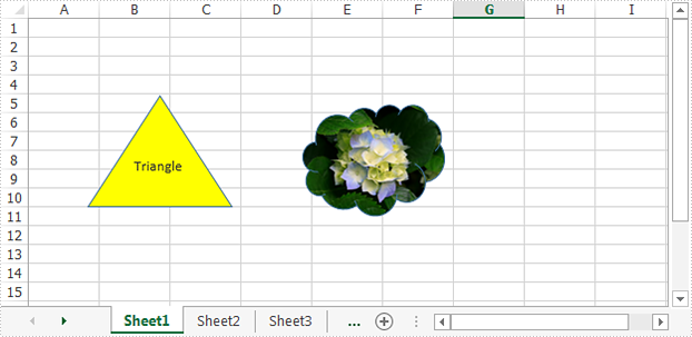 Extract text and image from Excel shape in C#