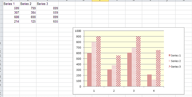 How to set the background color for Excel Chart in C#
