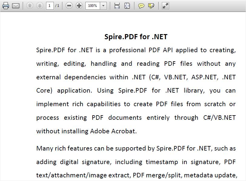Find and replace text on PDF document in C#