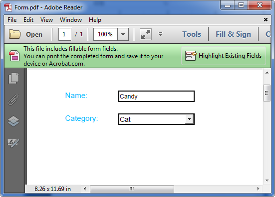How to Flatten PDF Form Fields in C#, VB.NET