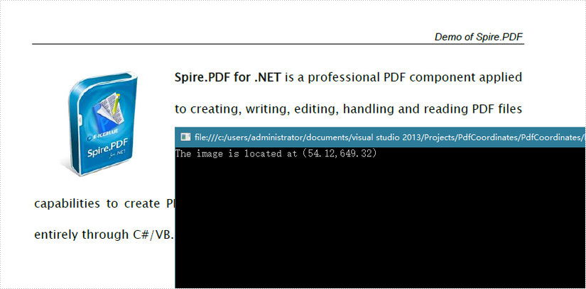 How to Get X/Y Position of Image in PDF in C#, VB.NET