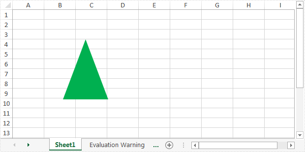 Hide or Unhide Shape in Excel in C#