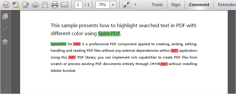 Highlight Searched Texts with Different Colors in C#, VB NET
