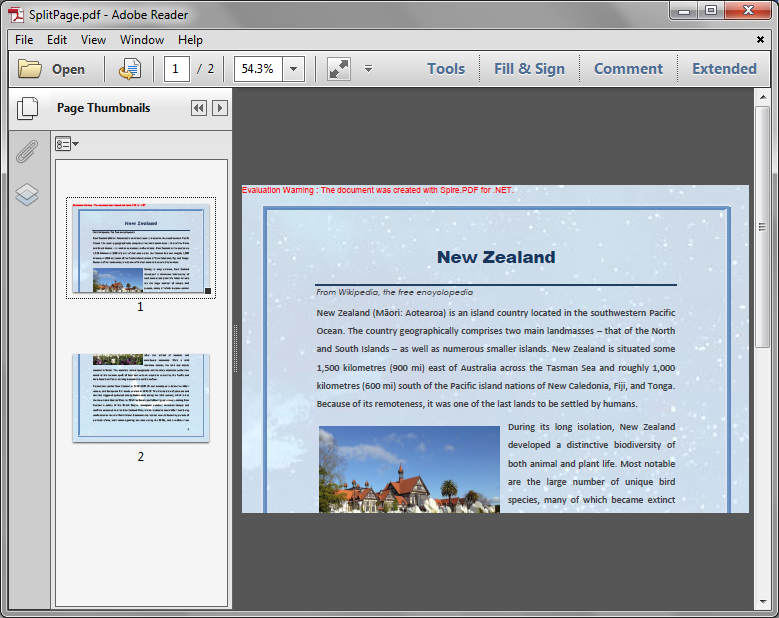 Horizontally and Vertically Split a PDF Page into multiple Pages in C#
