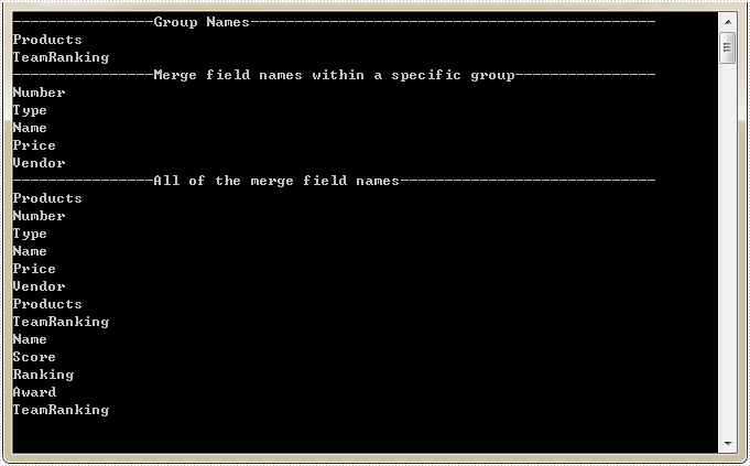 Identify Merge Field Names in Word with C#