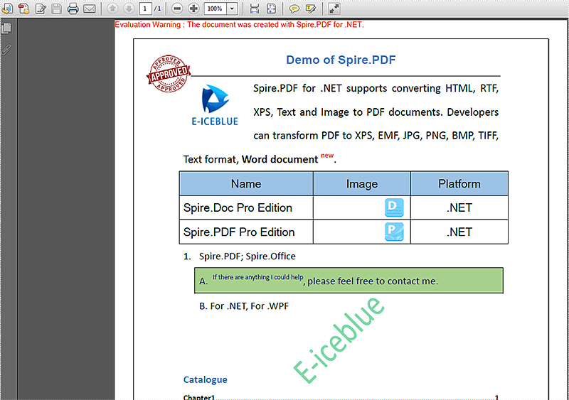How to add an image stamp to a PDF file in C#