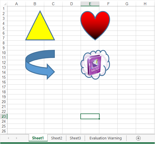 Insert and remove shapes in Excel in Java