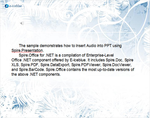 Insert Audio into PPT