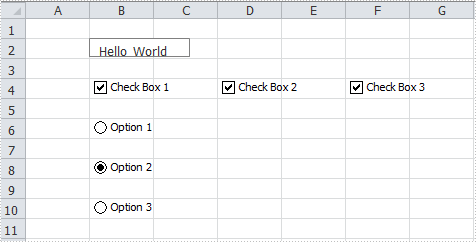How to Insert Controls to Worksheet in C#, VB.NET
