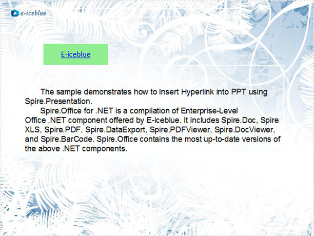 Insert Hyperlink into PPT Presentation