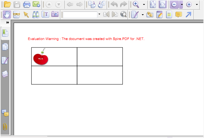 Insert an Image to PDF Grid Cell in C#