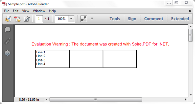 How to Insert a Line Break in PDF Grid Cell in C#, VB NET