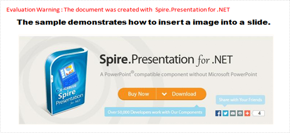 Insert image in PPT document