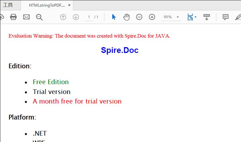 Java Convert HTML to PDF