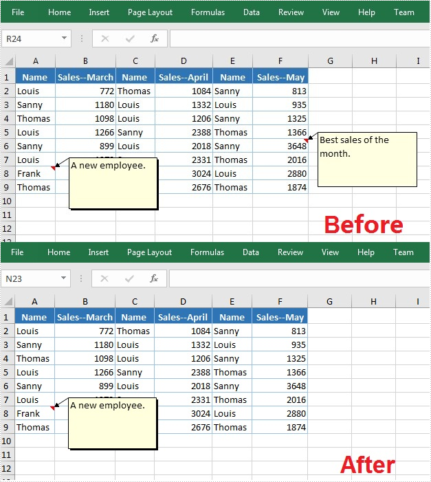 Java: Edit or Remove Comments in Excel