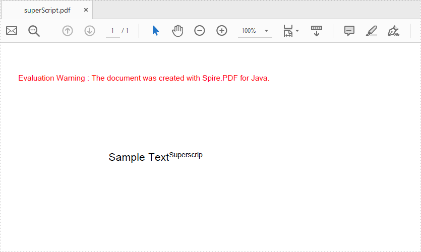 Java draw Superscript and Subscript Text in PDF