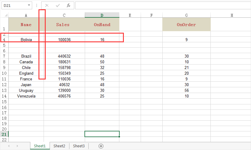 Java insert hide and delete Excel rows and columns