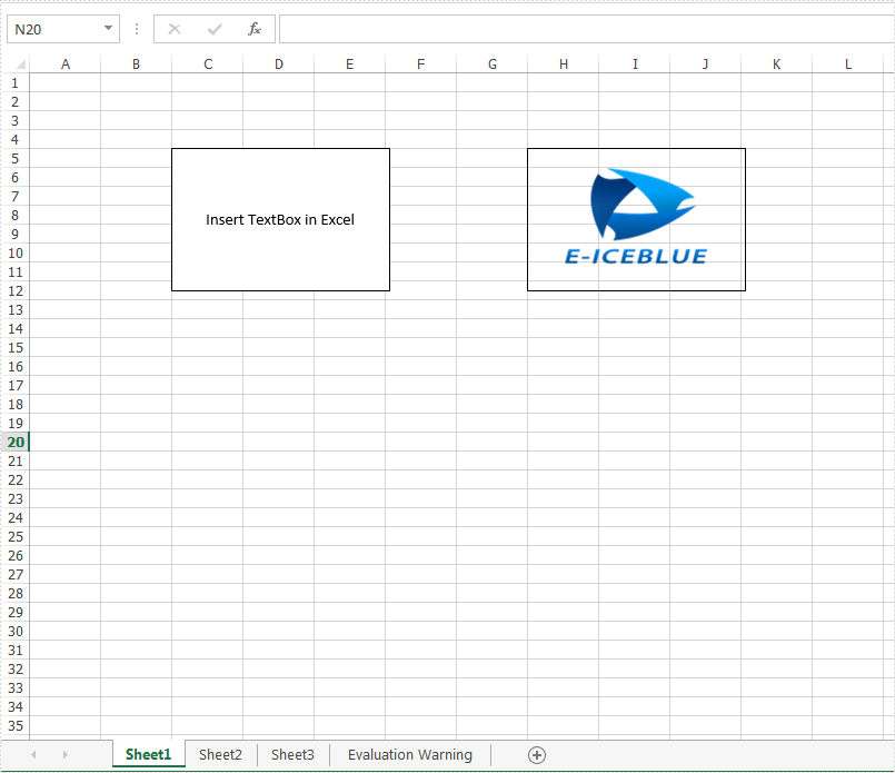 Java insert textbox to Excel worksheet