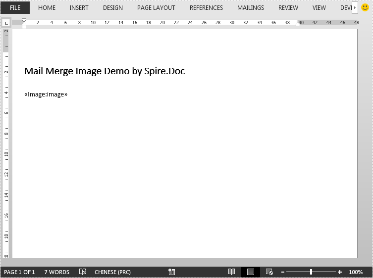 How to Mail Merge Image in Word in Java