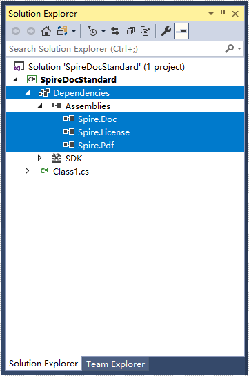 How to Mannually Add Spire.Doc as Dependency in a .NET Standard Library Project