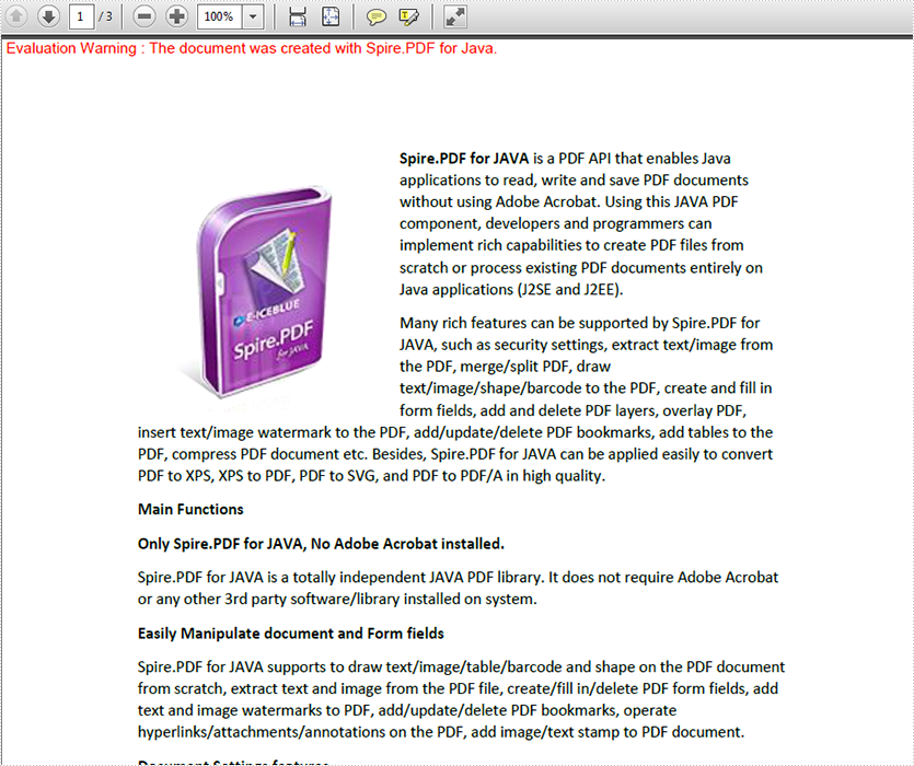 Merge PDF documents in JAVA