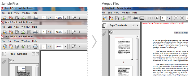 how to create multiple pages in one pdf file