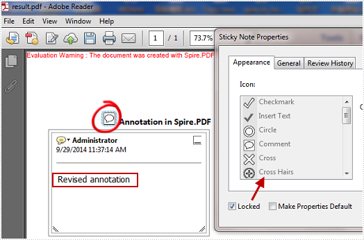 Modify and Format Annotation in PDF in C#, VB.NET