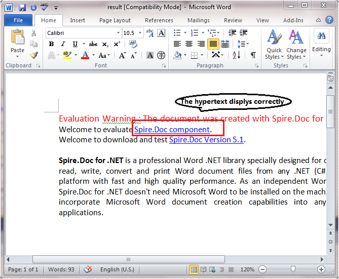 Modify Hyperlinks in Word Document