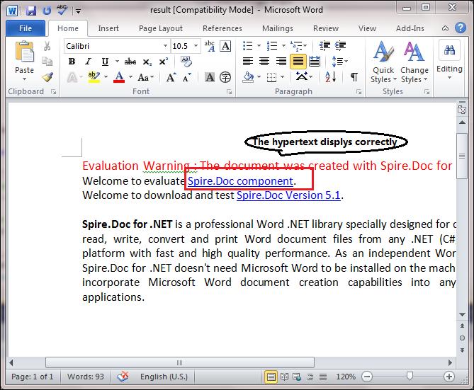 Modify Hyperlinks in Word Document