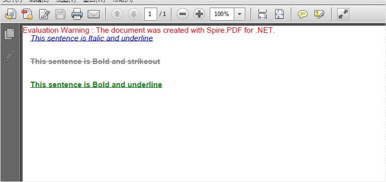 How to apply multiple font styles for the text on PDF in C#
