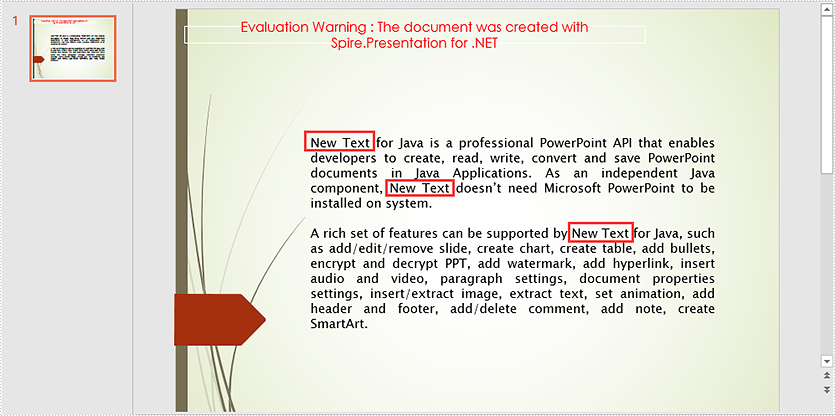 New Method to Replace Text in PowerPoint in C#