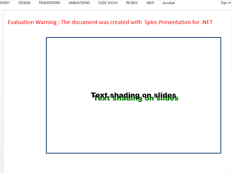 Set Shadow Effects for the Text on the Presentation Slides