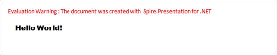 Spire.Presentation Quick Start