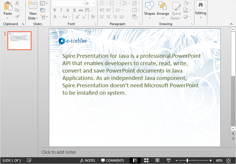 Read/Extract Text from a PowerPoint Document in Java
