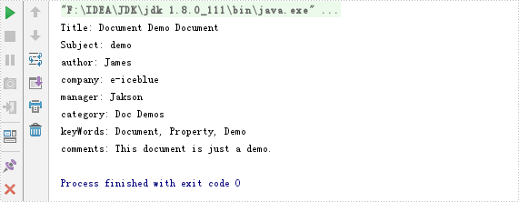Read and Remove Document Properties in Word in Java