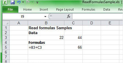 Read Excel Formulas in C#, VB NET