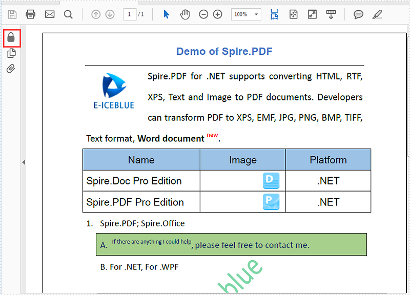 Remove password from the encrypted PDF document
