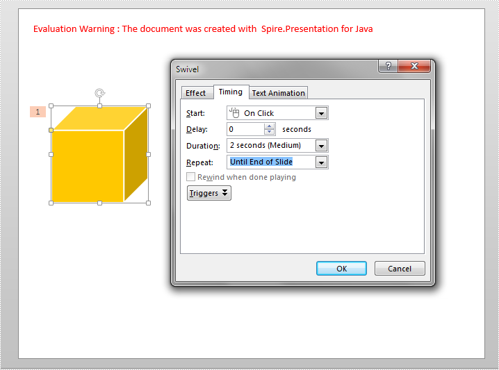 How to Repeat an Animation in PowerPoint in Java