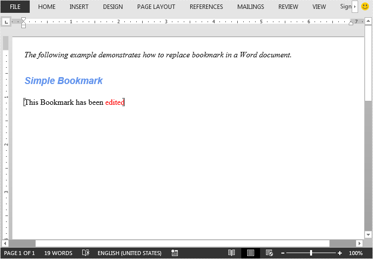 Replace Bookmark Content in Word in Java