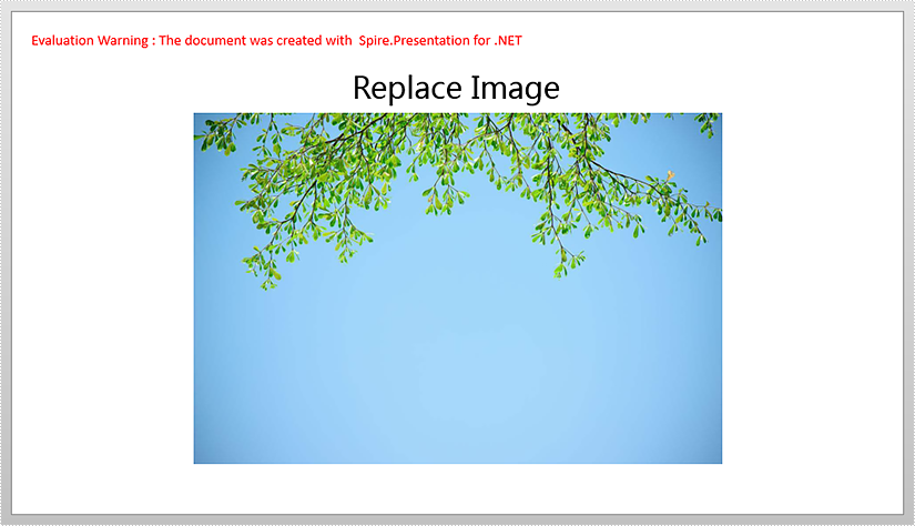 Replace Image with New Image in PowerPoint in C#