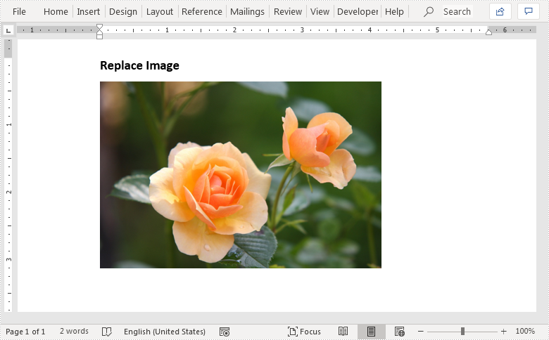 Replace Image with New Image in Word in Java