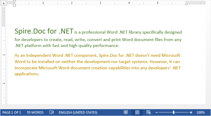 Replace Text with a Word document in C#