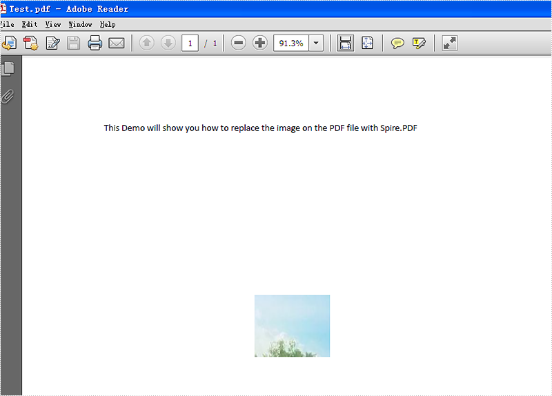 How to replace the existing image on the PDF file in C#