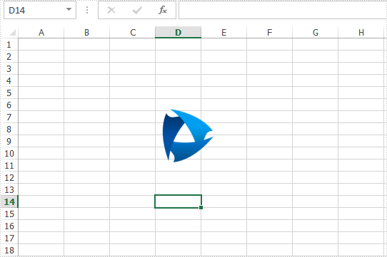Reset the size and position for the image on Excel worksheet