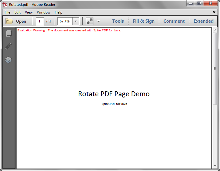 Rotate a PDF page in Java