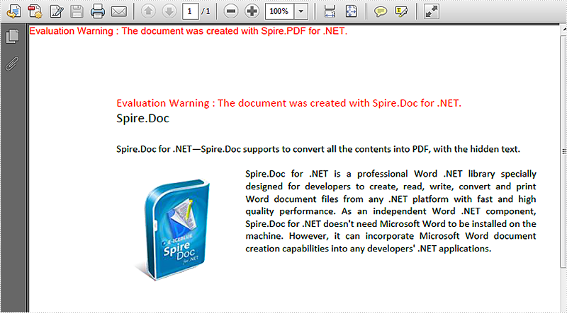 Save the hidden texts on word document to PDF