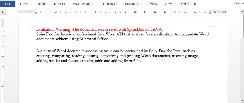 Set Paragraph Spacing and Line Spacing in Word in Java