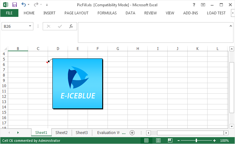 How to Set Picture Fill for Excel Comment in C#, VB.NET