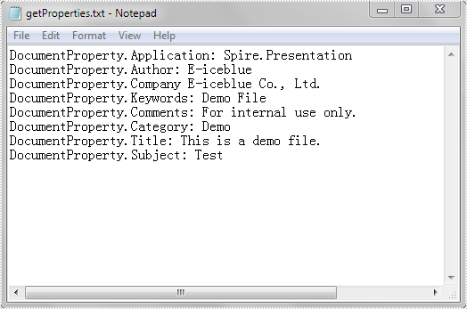Set and Get Document Properties in PowerPoint in Java
